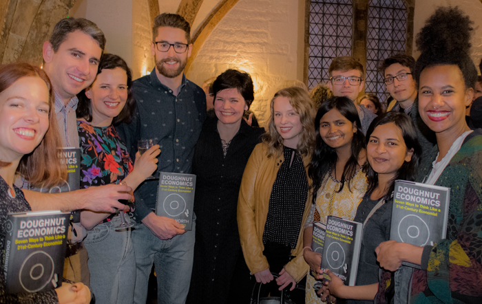 ECI students meet Kate Raworth at her book launch in Oxford, 4 April 2017